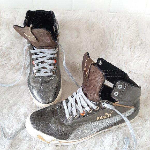 Puma Women Silver Grey Hight top Sneakers 9 1/2